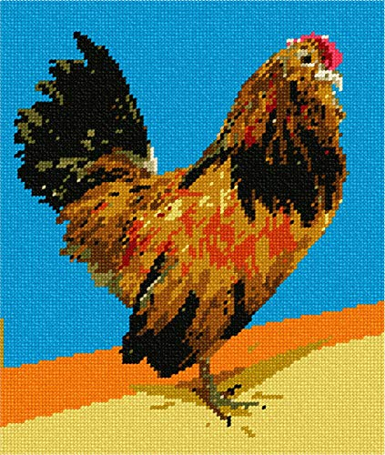 pepita Brilliant Rooster Needlepoint - Needlepoint Rooster