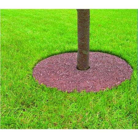 (Mr. Garden 5 Years Guaranteed Tree Ring Tree Mulch Protection Weed Mat, 24 Inch-Dia, Different Colors for Both Sides, 6 Pack)