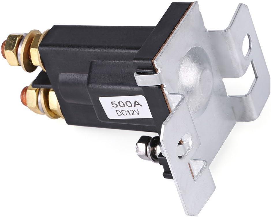 Hochstrom Starterrelais 500a Dc 12v Spst Auto Start Schütz Universelle 12v Anwendungen Für Doppelbatterien Baumarkt