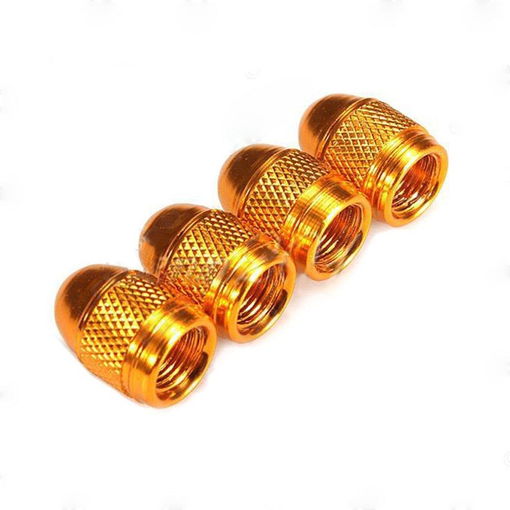 Amarillo SDGDFXCHN 7 Colores a Elegir Medium Aluminio Juego de 4 Unidades Tapas para v/ástago de v/álvula de aleaci/ón anodizada Bicicletas