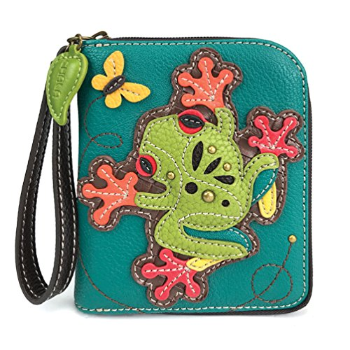 CHALA Pal Zipper Wallet Collection (Frog - Turquoise) ()