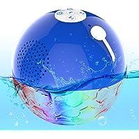 Draagbare Bluetooth-Luidspreker, Draagbaar, met LED-Licht, Luidspreker voor Douche, Waterdicht, Draadloos, IPX7…