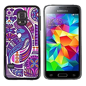 LECELL--Funda protectora / Cubierta / Piel For Samsung Galaxy S5 Mini, SM-G800, NOT S5 REGULAR! -- White High Contrast Art Abstract --