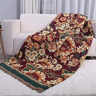Mantas Borlas Reversibles de algodón Boho Mantas de sofá Sofá ...