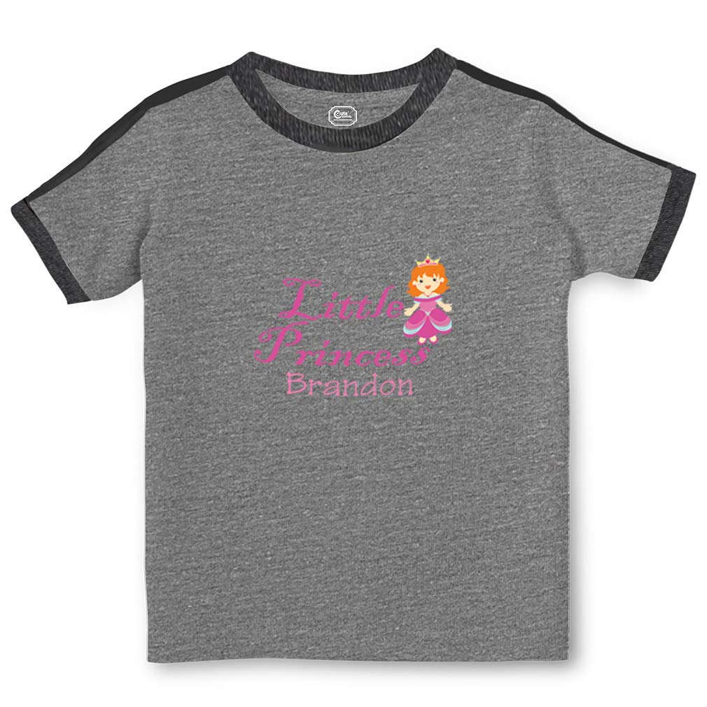 Personalized Custom Girly Little Princess Toddler Cotton Soccer T-Shirt