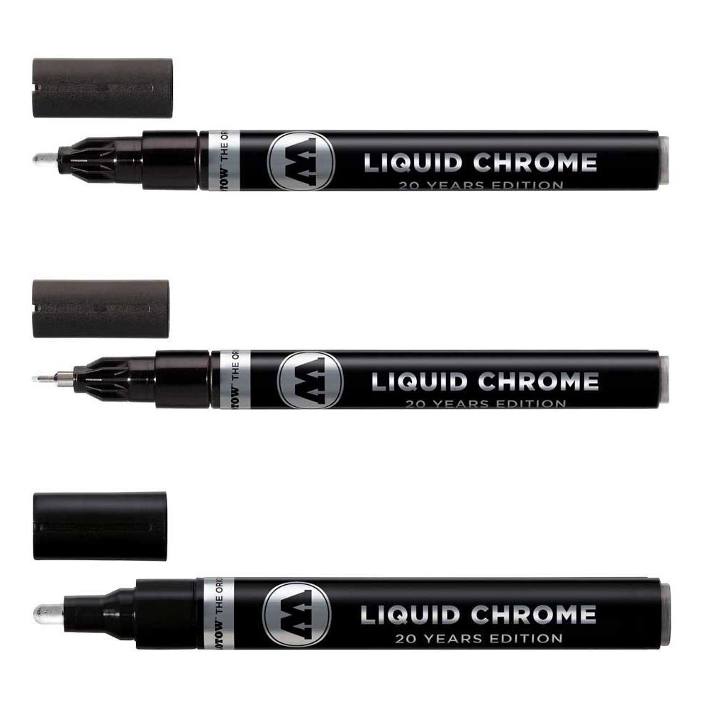 Molotow Liquid Chrome Marker Set - 1mm, 2mm and 4mm