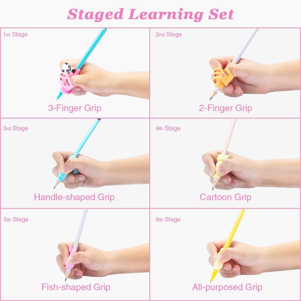 Agarre profesional para lápices, 6 etapas, para niños, para ...