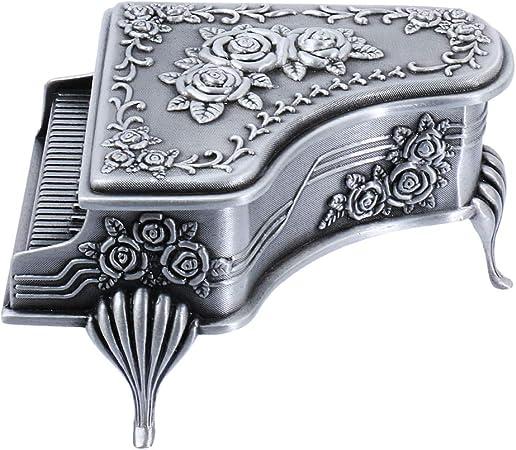 Yanhonin - Joyero de Metal Vintage con Caja de Regalo, aleación de Zinc, L: Amazon.es: Hogar