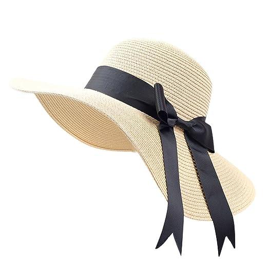 620c50db1c2 Women Sun Hats UV Protection Hat for Women Beach Straw Hats Big Brim  Foldable Hat