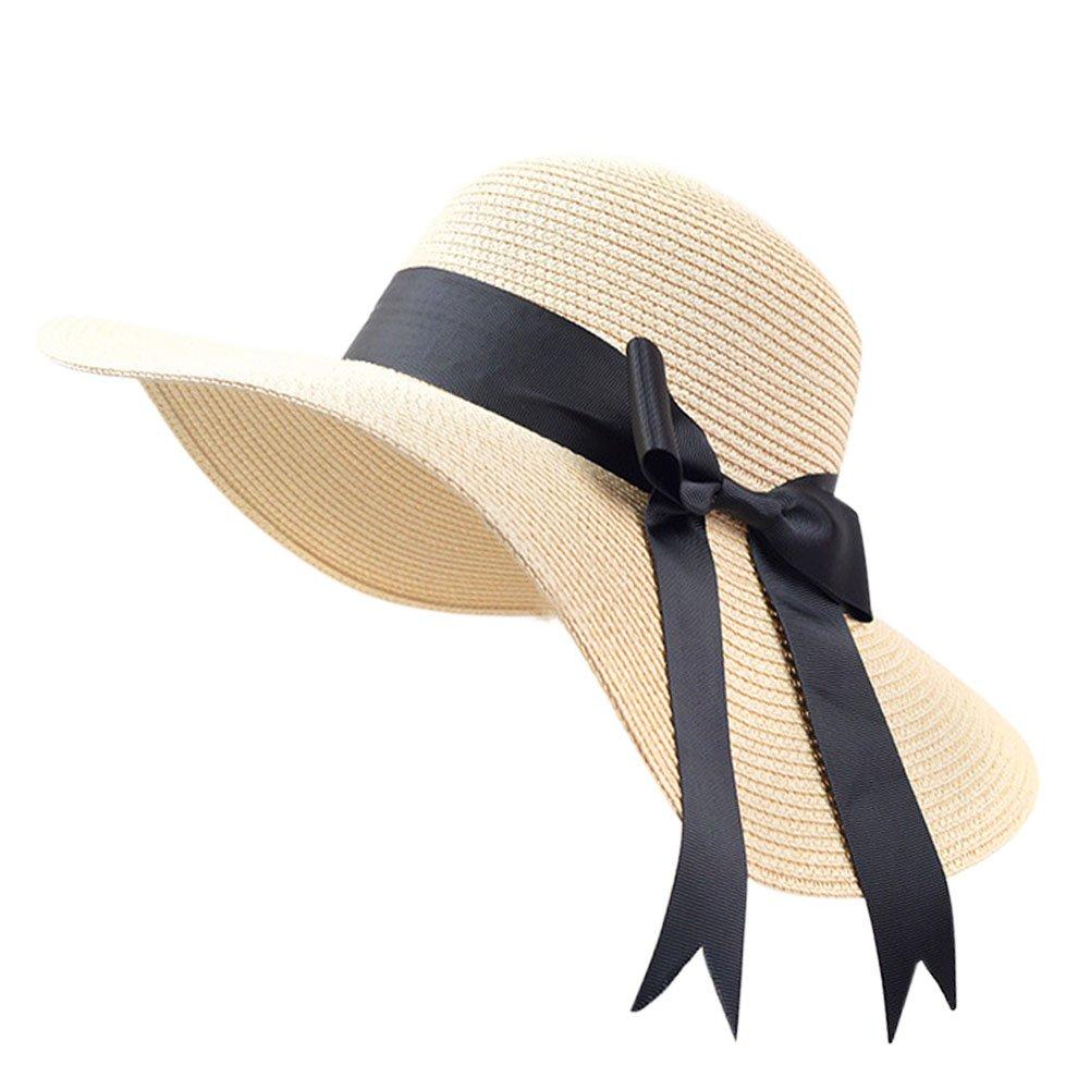 Women Sun Hats UV Protection Hat for Women Beach Straw Hats Big Brim Foldable Hat