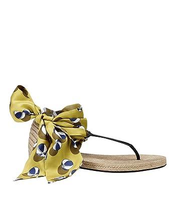 de0028ef4c7a Gucci Women s Multicolor Carolina Beach Ball Satin Tie Flat Sandal 338691  7362 (G 37
