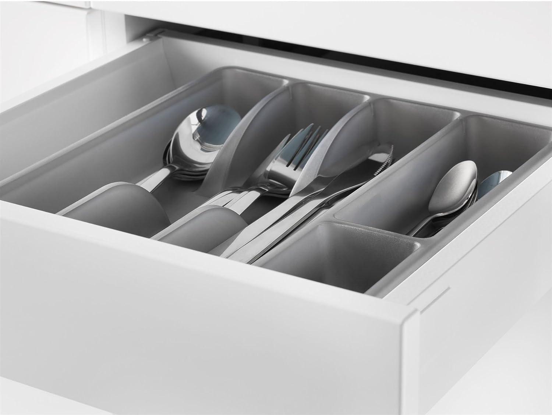 IKEA Calidad Premium de plástico, 5 particiones moderno Cubiertos estante de almacenamiento bandeja el uso Regular: Amazon.es: Hogar