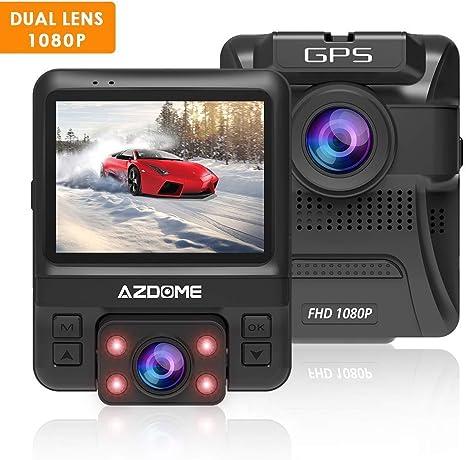 WiFi Dashcam mit GPS und Loop-Aufnahme Dash Cam mit 170/° Weitwinkelobjektiv und Nachtsicht M06 Parkmonitor und Bewegungserkennung AZDOME 4K Autokamera mit Zeitraffer Dash Camera mit G-Sensor