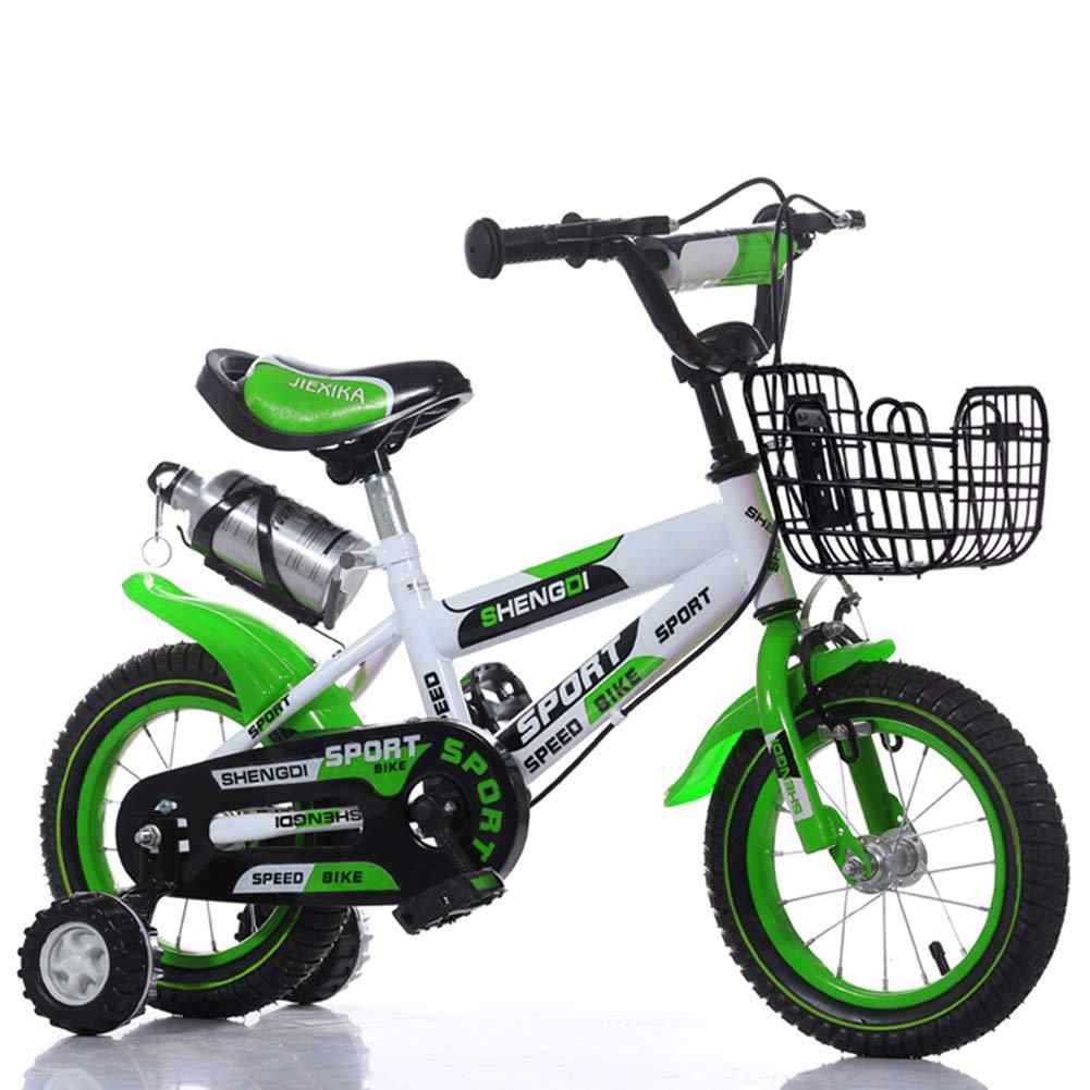 1-1 Bici 20 Pollici Ragazzi' Ragazze' Bicicletta, Kids' Ciclismo Giocattolo Altezza Regolabile Doppio Freno Antiscivolo Sicurezza Bambini All'aperto,verde