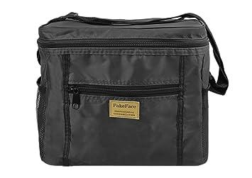 Sac isotherme, sacs isothermes repas, pliable et portable Sac glacière pour camping, Pique-nique, Voyage, Voiture, 10L (noir)