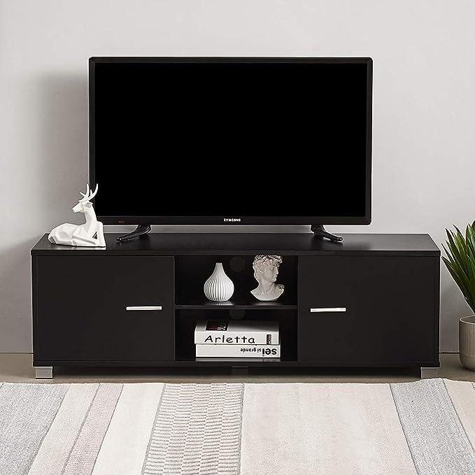 Mueble TV, Mesa Televisión Moderna, Mesas para TV Salon, Negro ...
