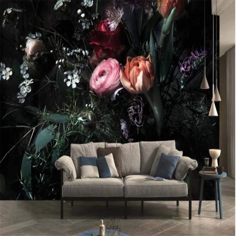 Mrlwy Flor de tulipán de época europea Papel tapiz de pared 3D ...