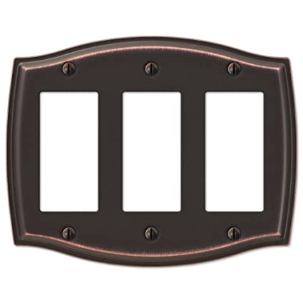 Triple Gfci Rocker Switch Plate Outlet Cover Rocker Toggle Light