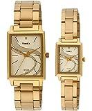 Timex Classics Analog Gold Dial Pair Watch - TW00PR192