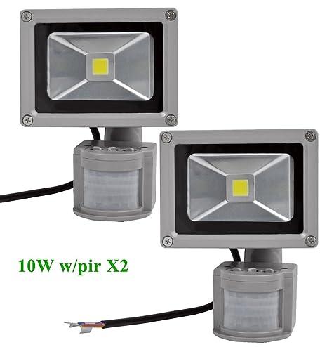 2Pcs 20W LED Kaltweiß Fluter mit Bewegungsmelder Scheinwerfer Flutlicht 220V DHL