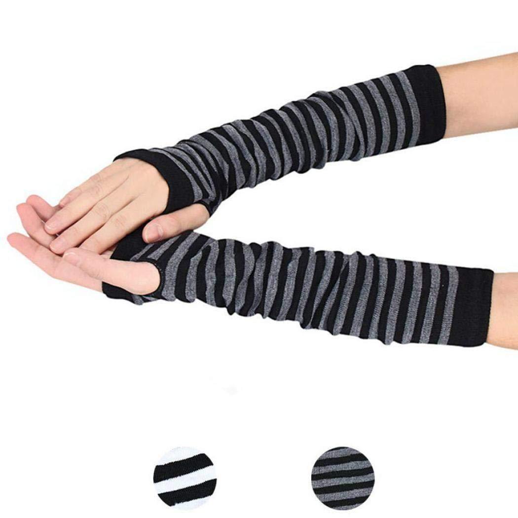 Nisels Guanti da donna dita maglia lunghi Manicotti