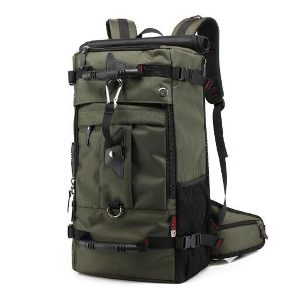 バックパックメンズアウトドアスポーツバッグ大容量バッグ3防水実用的登山バッグ B07BMBMDY6 アーミーグリーン