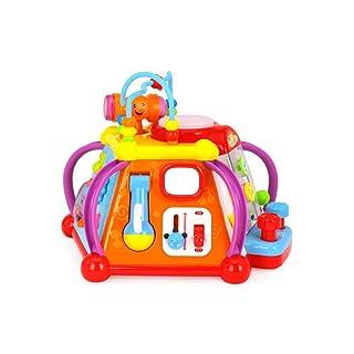 QARYYQ Tavolo da Gioco Multifunzionale per Bambini, Piccolo Gioco da Tavolo per Bambini, Giocattoli Educativi per Bambini, 29.5x29.5x23.5cm Giocattolo