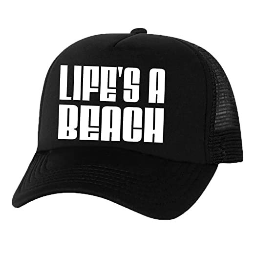 bb4ab7ea577f9f Life's A Beach Truckers Mesh snapback hat in Black - One Size at ...