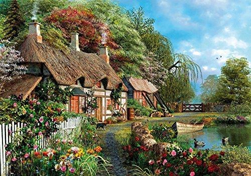 Wentworth Riverside Home in Bloom 500 Piece Wooden Dominic Davison Jigsaw Puzzle