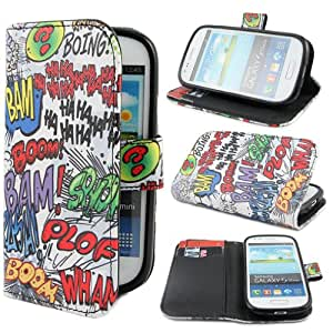 TUTUWEN HAHA Wallet PU Leather Stand Case Cover for Samsung Galaxy S3 Mini i8190