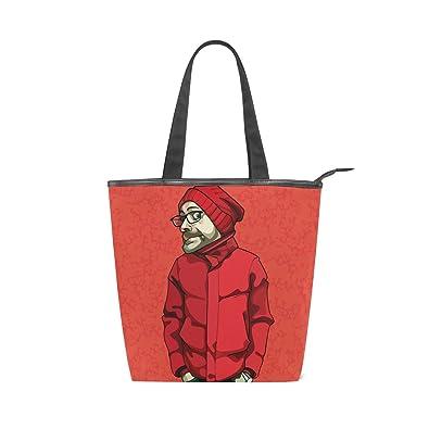 Amazon キャンバス バッグ トートバッグ 多機能 多用途2way面白い