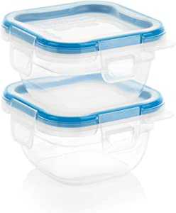 Snapware 2-Pack Total Solution 1.34-Cup Square Storage, Plastic