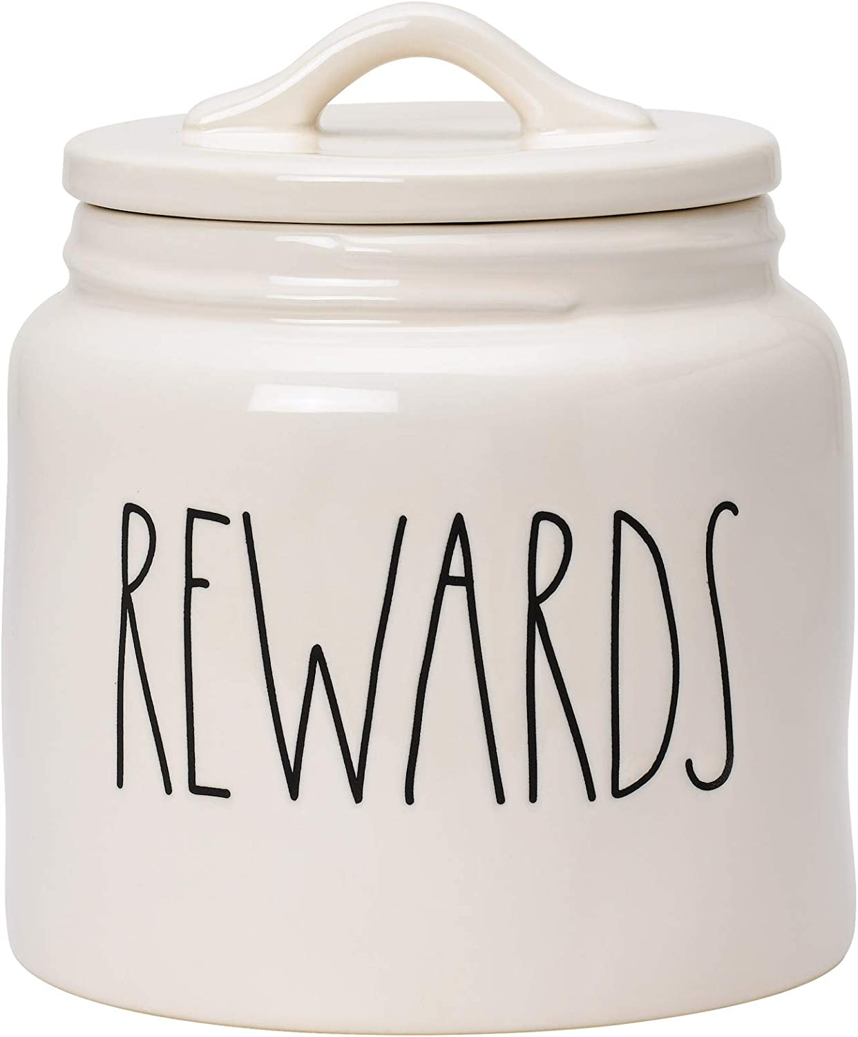 Rae Dunn cookie jar Rae Dunn canister Snack Canister. ceramic rewards Rewards Food Container for Cookies or Dog Biscuits