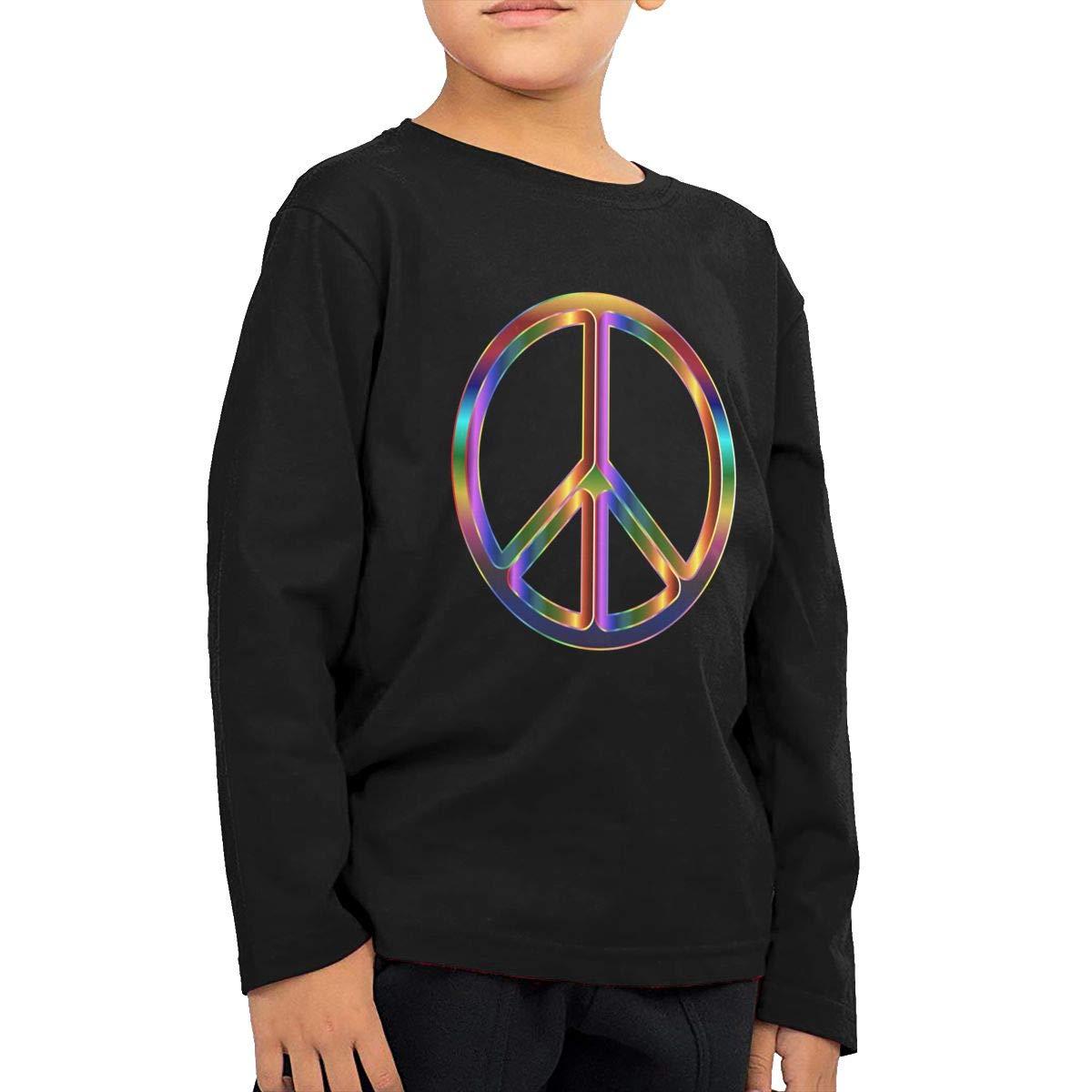 COTDREN Psychedelic Peace Boys Cotton Long Sleeve Tshirt