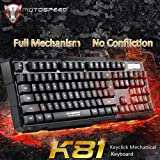 DZT1968 Motospeed K81 Mechanical Gaming Keyboard Multimedia Shortcut Keys