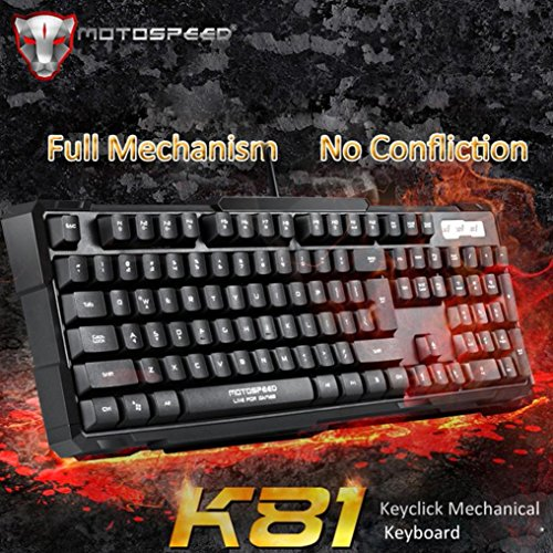 DZT1968 Motospeed K81 Mechanical Gaming Keyboard Multimedia Shortcut Keys by DZT1968