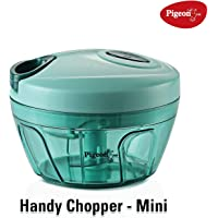 Pigeon by Stovekraft Triple Blade Handy Chopper with Pull Cord Technology - Green - Set of 2 Pcs (1 S & 1 L)