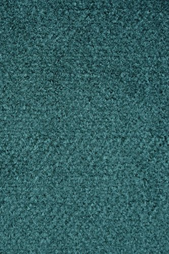 Ambiant Broadway Collection Solid Color Area Rugs with Rubber Marine Backing for Patio, Porch, Deck, Boat, Basement or Garage with Premium Bound Polyester Edges Teal 5 X8