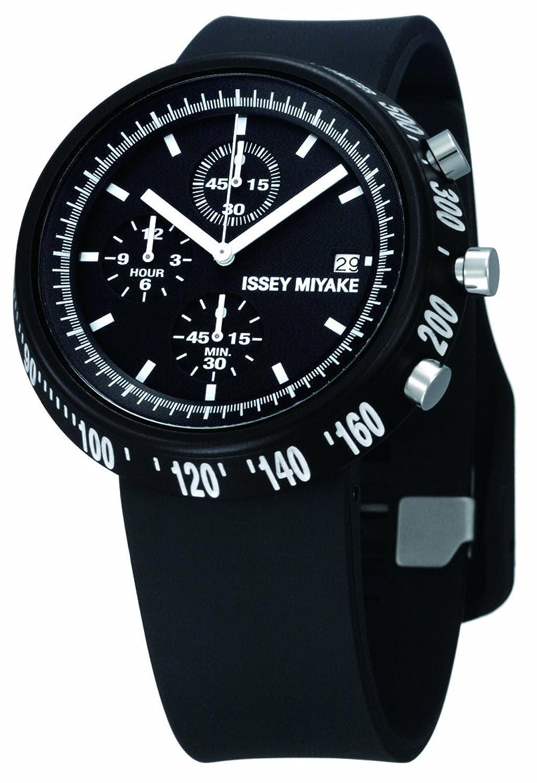 Issey Miyake Unisex-Armbanduhr Chronograph schwarz IM-SILAT005