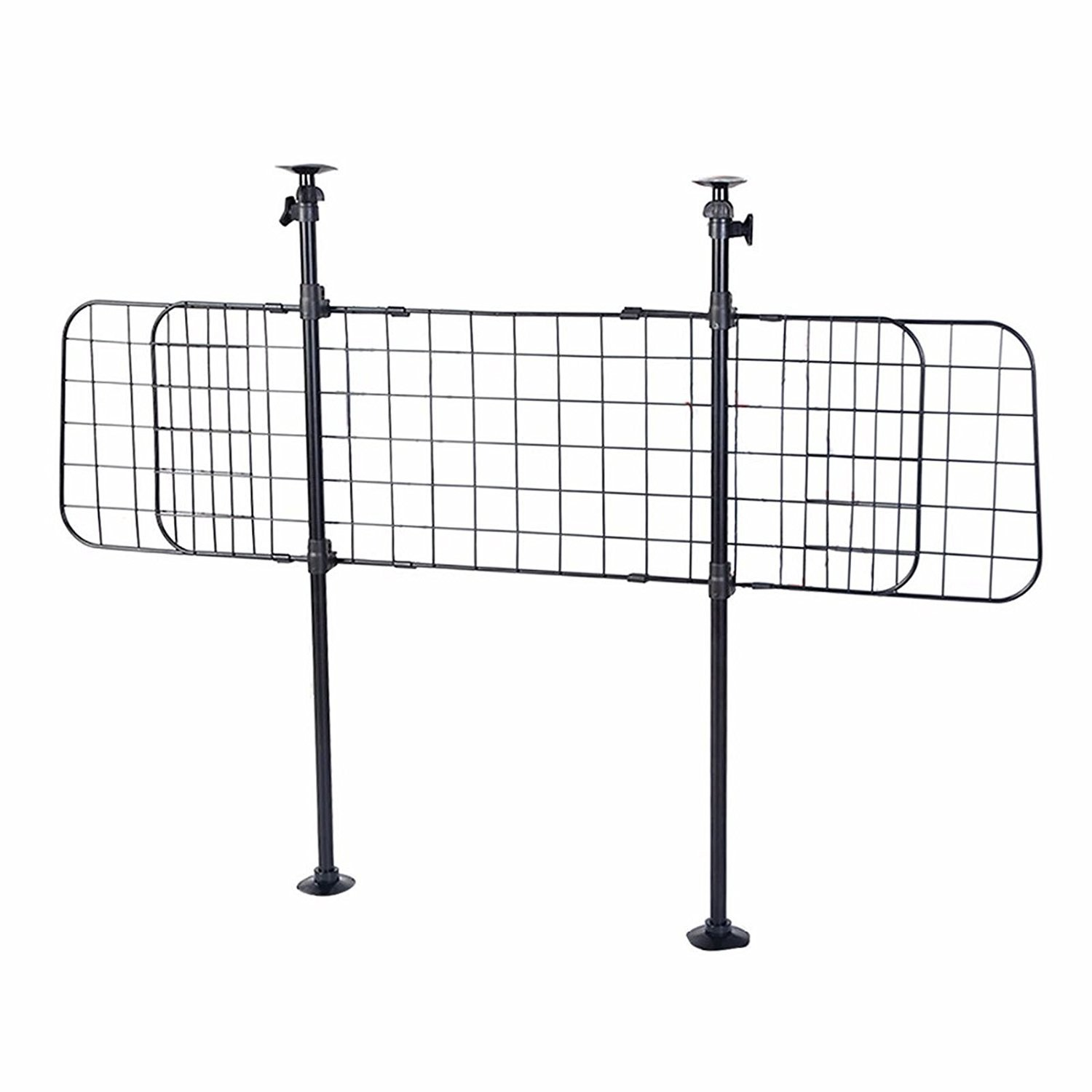 Pet Barrier for Car, FMJI Dog Wire Mesh Barriers Dog Grid Divider for Car/ Vehicles/ SUV/Trucks and Pet Automotive Safety