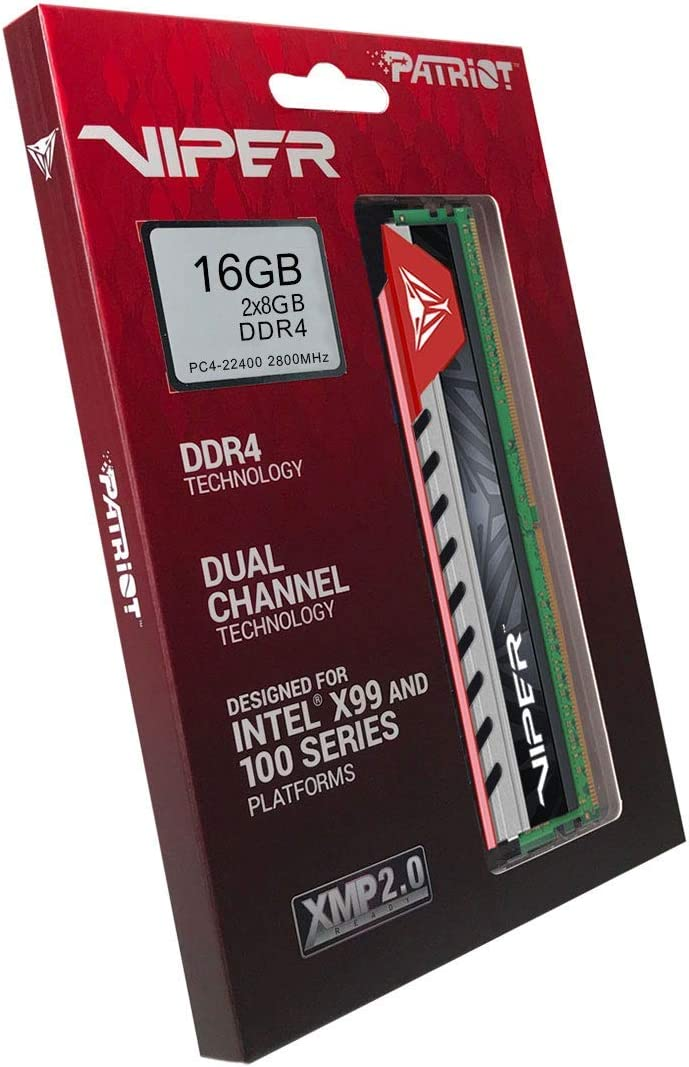 Patriot Viper Elite Series DDR4 16GB PVE416G280C6KRD 2 x 8GB 2800MHz Kit Red