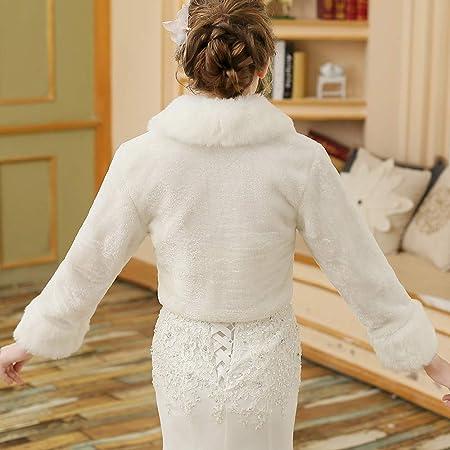 Abrigo de Invierno cálido para Mujer Mantón Nupcial de Manga Larga de Encaje Abrigo Bufandas Chaqueta estolas Poncho con pompón para Boda Vestido de Fiesta ...