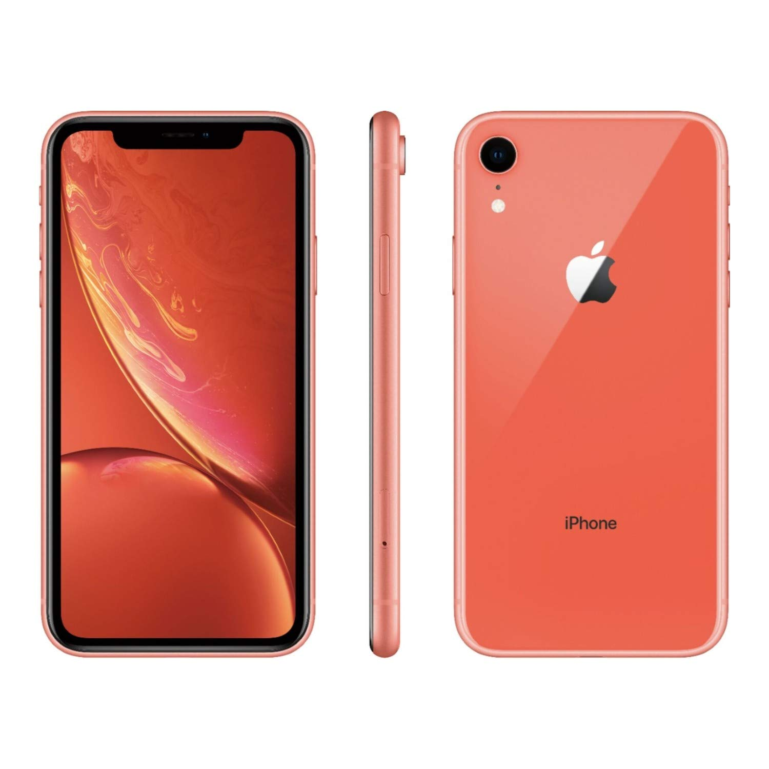 Apple iPhone XR, 64GB, Coral – Fully Unlocked (Renewed)