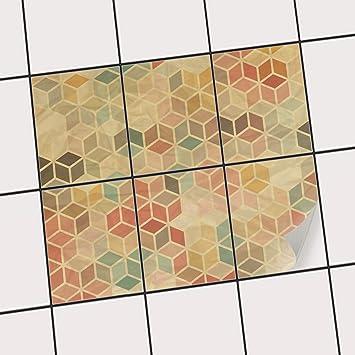 Creatisto Fliesen Folie Sticker Aufkleber Selbstklebend - Fliesen hochkant oder quer