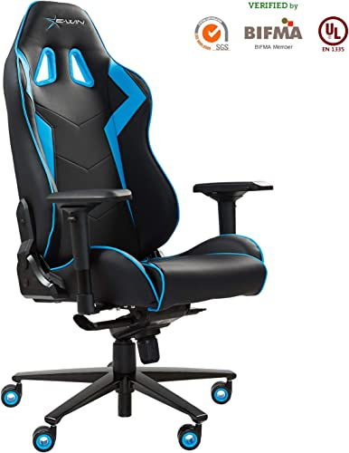 Ewin Gaming Chair 4D Armrests Memory Foam PU Leather
