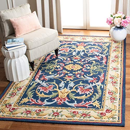 Safavieh Heritage Collection HG657N Handmade Traditional Wool Area Rug