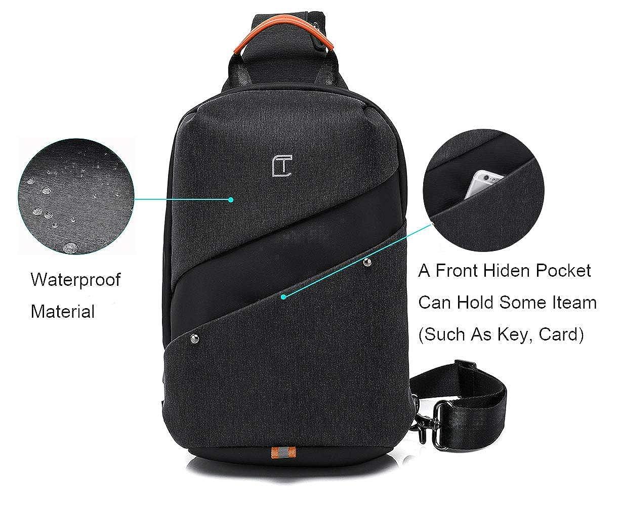 Unisex Sling Bag Backpack Travel Sport Shoulder Chest Crossbody Daypack