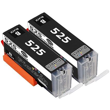 2 x Canon PGI-525 (negro) cartuchos de tinta para impresora Canon ...