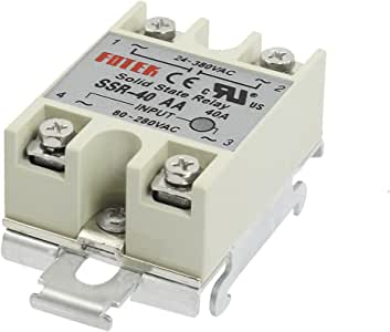 GLE2016 AC-AC 40A 80-280VAC 24-380VAC SSR-40AA Gray Solid State Relay DIN