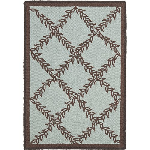 Safavieh Chelsea Collection HK230J Hand-Hooked Blue and Brown Premium Wool Area Rug (1'8